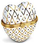 Heart Shaped Porcelain Box Enamel Jewelry Trinket Collectible Great