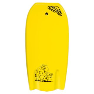 360 WAVE REBEL BAT TAIL BODY BOARD 45 INCH YELLOW  B110N