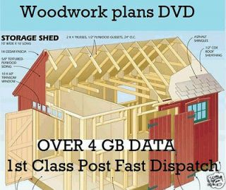 Woodwork Plans DVD DIY Shed Log Cabin Summer Play House Barn Garage