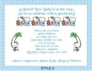 hello kitty baby shower invitations in Home & Garden