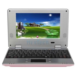 New 7 Mini Laptop Netbook VIA 8650 800MHz Android 2.2 4GB 256MB Wifi