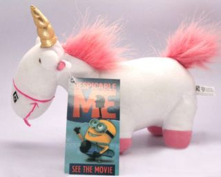 Despicable Me fluffy Unicorn Plush Solf Doll Toy NEW
