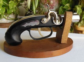 Derringer Gun Coffee Table Cigarette Lighter with Stand