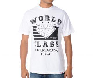 Diamond Supply Co. World Class Skateboarding Team T shirt White Black