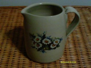 Daisy Design Pottery Pitcher 6 tall by Casey Pottery in Marshall
