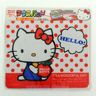 Hello Kitty Polka Dot Mouse Pad   Office Desk Supply Imported Japan