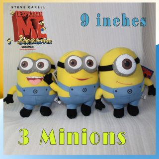 3X Despicable Me Plush Minions Soft Toy Stuffed Animal 9 Dave