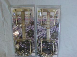 *** Set of 2 Silver Garden Flower Pot Hanger *Brand New