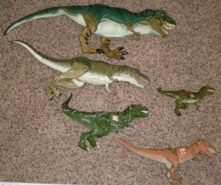 Jurassic Park Toy Lot of 5 Dinosaurs Toys Bull Tyrannosaurus Rex T PIX
