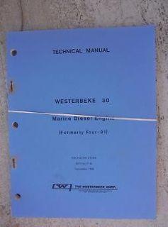 1980 Westerbeke 30 Marine Diesel Engine Technical Manual Formerly Four