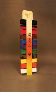 Arts Taekwondo Handmade Belt Display Rack with Name Personalized New