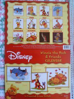 Disneys Winnie The Pooh & Friends Calendar Cross Stitch Pattern