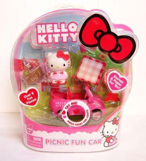 Mini Hello Kitty Picnic Fun Car Remote Control R/C Figure Stamps Lite