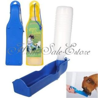 Plastic Portable Pet Dog Cat Water Feeding Bottle Drink Bowl Fountain