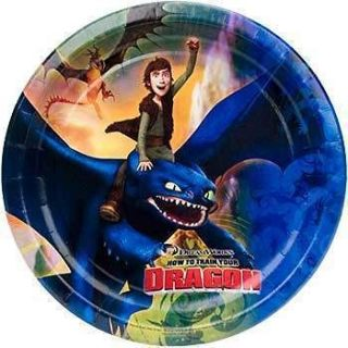 how to train your dragon party plates