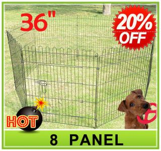 36 8 panel Pet Dog Cat Exercise Pen Playpen Fence Yard Kennel