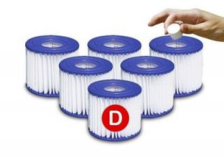 12 Type/Size D Pool Filter Cartridges Summer Escapes,Simple Set,Sand
