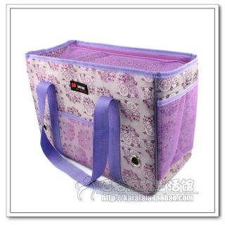 fashion light purple cat dog pet carrier bag cute lovely heart any