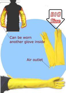 Long LATEX RUBBER GLOVE for KITCHEN DISHWASHING industrial household