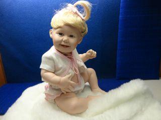 ASHTONE DRAKE BABY GIRL PORCELAIN DOLL WITH BLANKET BY TITUS TOMESCU