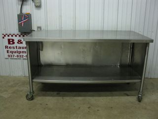 60 x 30 Stainless Steel Heavy Duty Work Prep Table Cabinet 5