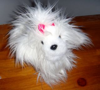 Tzu MALTESE plush shihtzu stuffed animal toy white puppy dog FLUFFY