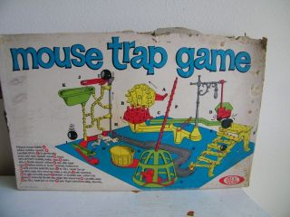 Vintage Mouse Trap Game in Box by Ideal 5997 1960s