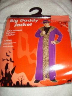 COSTUME BIG DADDY JACKET INCLUDES JACKET ONLY MENS SIZE 40 42 PURPLE
