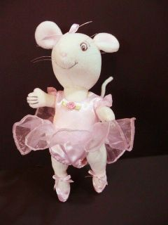 American Girl 2002 Angelina Ballerina Plush Doll in Costume Dress