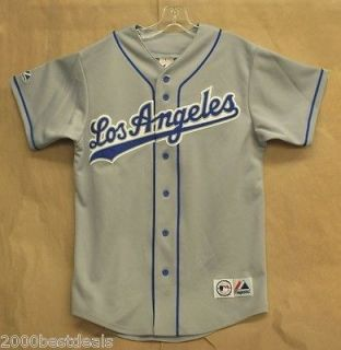 MAJESTIC JERSEY MLB LOS ANGELES DODGERS PATCHED MEN GRAY WHITE REPLICA
