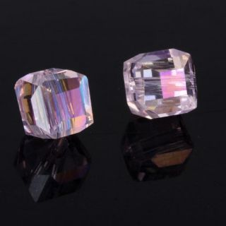 Free Ship 30pcs 6mm Swarovski Crystal #5601 Cube Beads