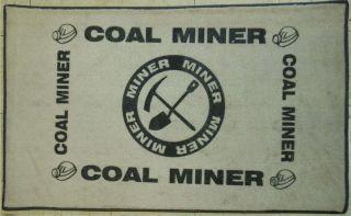 COAL MINER Area Rug 22 x 37 Door Mat Mining Pick Brand NEW FREE