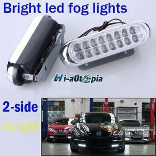 Car Truck Grille Universal Day Fog Aux 16 LED White Driving Light Bulb