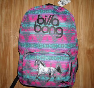 Girls HORSE Backpack~BILLABONG~CoLoRs~Southwestern~Arabian HORSE~NWT