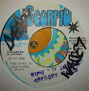 Gregory Isaacs   Rude Boy Saddam 7 Black Scorpio