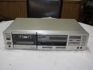 Sony TC FX45 Stereo Cassette Deck Tape Player Recorder Nice Silver