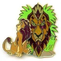 Disney Pin   Scar (Lion King) Character 3D African Tiki Mask Pin RARE
