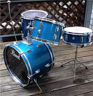 Royce 4pc drum set, blue sparkle pearl, MIJ shell kit, NR