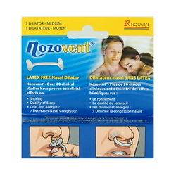 Nozovent Latex Free Nasal Dilator, relieve nasal congestion and