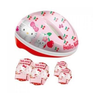 Hello Kitty Protective Safety Gear Set   Helmet, Knee and Elbow Pads