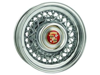 Cadillac Wire wheels 15x6 set of 4 with caps (1957 1976) Coker Tire