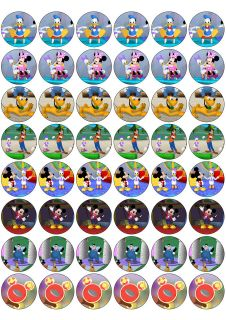 48 Mickey Mouse Clubhouse Edible cupcake toppers (rice paper)