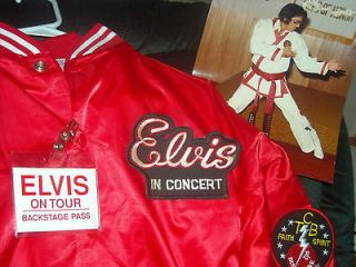 ELVIS PRESLEY CONCERT TOUR JACKET karate SIZE EXTRA LARGE