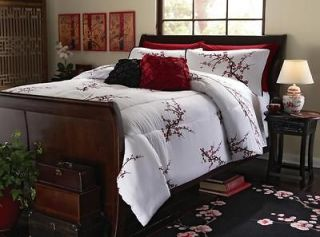 Elegant Cherry Blossom Japanese Style Comforter Full/Queen