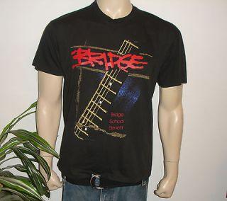 1990 BRIDGE CONCERT* vtg shirt (L) 80s Neil Young Elvis Costello