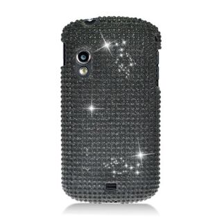 ALL BLACK DIAMOND HARD BLING CASE COVER SAMSUNG STRATOSPHERE GALAXY