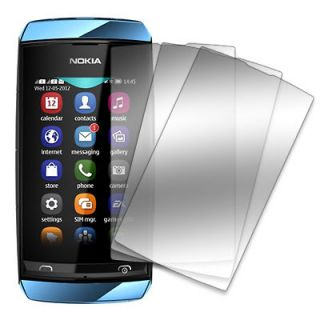 MPERO 3 Pack of Mirror Screen Protector Film Covers for Nokia Asha 305