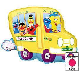 Sesame Street Bus Elmo Big Bird Ernie Party Balloon