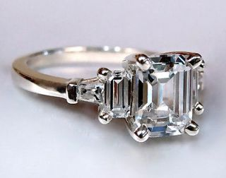 emerald cut diamond engagement ring in Engagement Rings