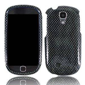 Carbon Fiber Faceplate Hard Shell Cover Case for Samsung Galaxy Q T589